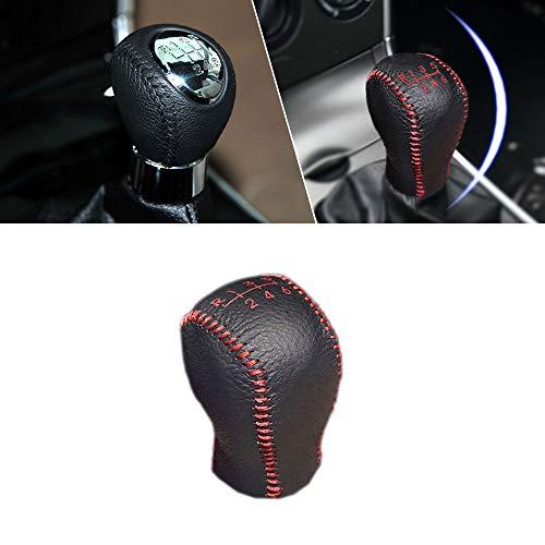 Manuell Schaltknauf Abdeckung Leder für Mazda3 06-13 Mazda6 06-13 Axela 2016 CX-3 2015 6 Gang Schalthebel Schwarz mit Rot Naht Modell C