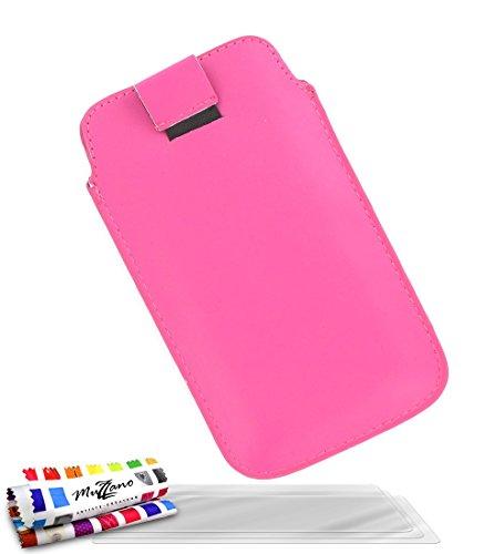 MUZZANO Funda GOOGLE NEXUS 5 [ Le Sweep] [Rosa caramelo] 3 Pelliculas de Pantalla UltraClear + ESTILETE y PAÑO REGALADOS - La Protección Antigolpes ULTIMA, ELEGANTE Y DURADERA para su GOOGLE NEXUS 5