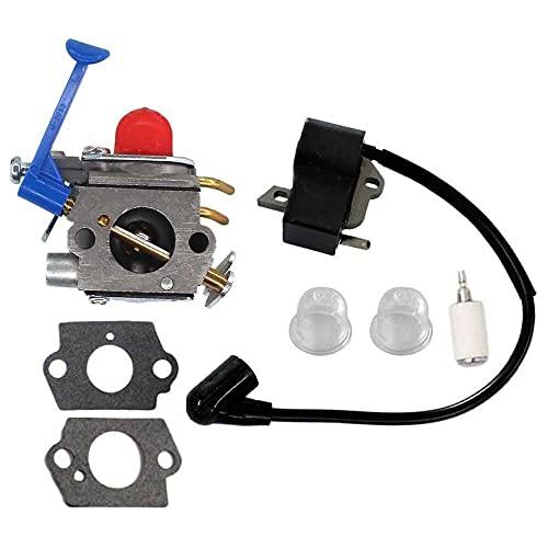 Gmasuber Carburador con bobina de encendido para Husqvarna 128C 128CD 128L 128LD 128LDX 128R Trimmer Brushcutter
