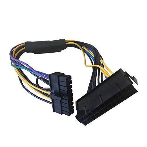 Tree2018 - Cable de alimentación de 24 pines a 18 pines de repuesto para placa base, conector profesional ATX estable, adaptador de conversión duradero para HP Z620/Z420