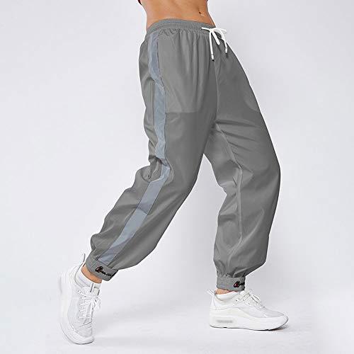 No/Brand - Pantalones deportivos para mujer, estilo informal, holgado, para exteriores, color gris, L