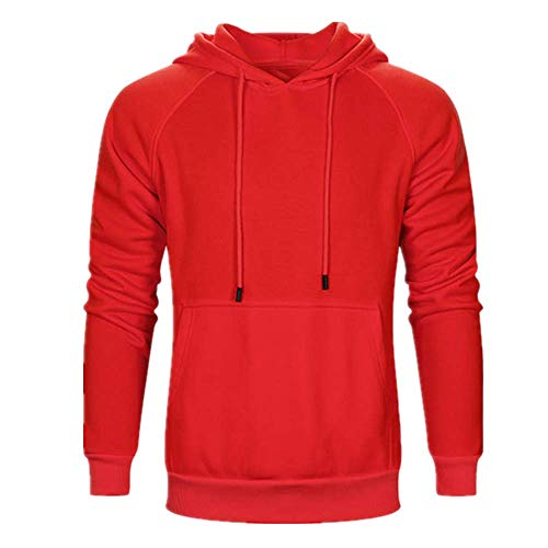 NLZQ Sweat Capuche pour Homme 2021 Automne et Hiver Nouveau Sweatshirt Chemise d'entraînement Slim de Couleur Unie Fitness Simples et généreux Top Sweat Capuche avec Poche Kangourou S