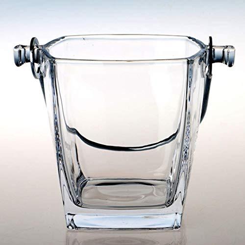 YWSZJ Cubo de Hielo Cristal de Hielo Cubo de Hielo con Transporte de manijas Desmontables de Acero Inoxidable y Pinzas Extra Cubo de Hielo Enfriador de contenedores for Vino