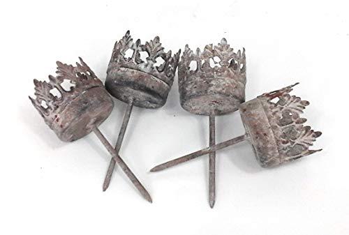 Gartenzaubereien Teelichthalter grau zum Stecken 3,5X9,5cm