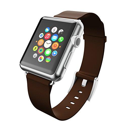 Incipio Premium Cinturino in Pelle per Tutti i Modelli Apple Watch 38mm, Apple Watch, Apple Watch Sport | Apple Watch Edition, Colore: Marrone Scuro