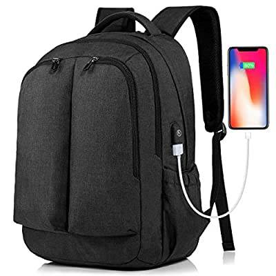 17 Inch Laptop Backpack Large Travel Bag with U...