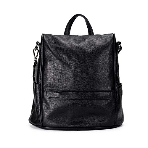 Check Out This XINBABYG Backpack – Women's European and American Fashion Large-Capacity Backpack, Wild Casual Soft Leather Bag Can Accommodate 10 Inch Computer Zipper Seal