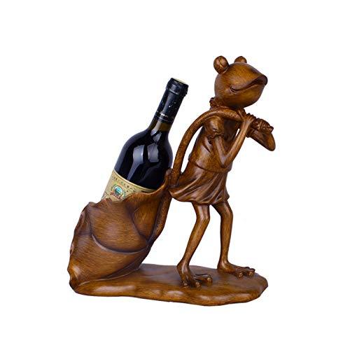 Secret night Decoraciones para estantes de Vino de Rana, Escritorio Decorativo Botella de Vino Botella de Vino Encimeras Centro de Cocina Decoraciones, Accesorios de Barras