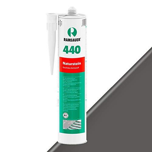 Ramsauer 440 Naturstein 1K Silikon Dichtstoff 310ml Kartusche (Anthrazit)