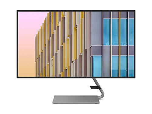 Lenovo Q27h-10 68,58 cm (27 Zoll, 2560x1440, WQHD, 75Hz, WideView, entspiegelt) Monitor (HDMI, DisplayPort, 4ms Reaktionszeit, AMD Radeon FreeSync) grau