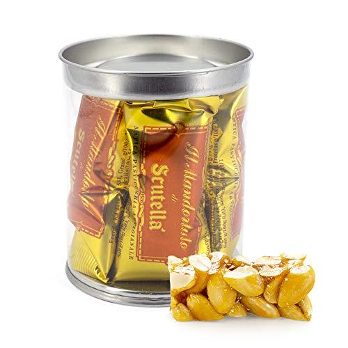 Torroncino Artigianale alle Mandorle [160 grammi] Barattolino - L'eccellenza del torrone della Pasticceria Scutellà | Idea Regalo