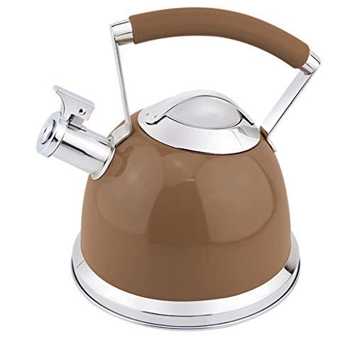 Hervidor de té silbado, tetera de acero inoxidable de 2,5 l...