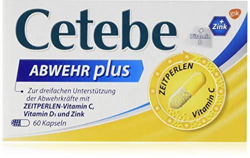 CETEBE Abwehr plus Vitamin C+, Vitamin D3+ Zink,  1er Pack(1 x 70 g)