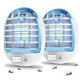 Indoor Bug Zapper, Mosquito Killer Electronic Insect Killer Fly Trap, Mosquito Zapper with Blue Lights for Home, Kitchen, Bedroom, Baby Room, Office (2 Packs)