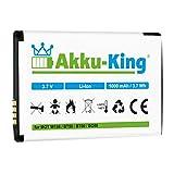Akku-King Akku kompatibel mit Motorola BT50, BQ50 - Li-Ion 1000mAh - für C160, C193, C290, C975, C980