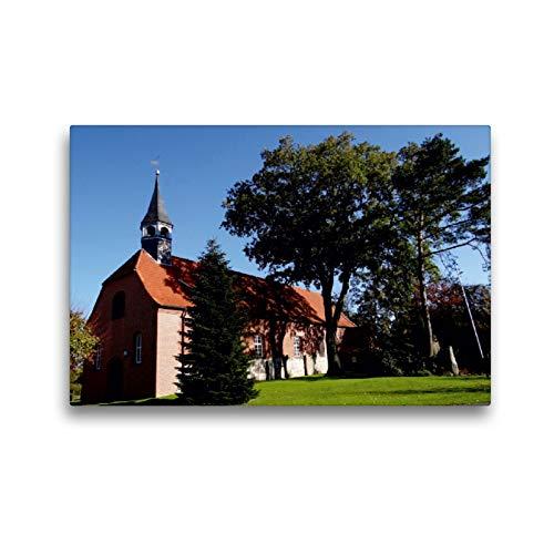 CALVENDO Premium Textil-Leinwand 45 x 30 cm Quer-Format Kirche Sankt Dionysius in Hamelwörden, Leinwanddruck von Henning von Loewis of Menar