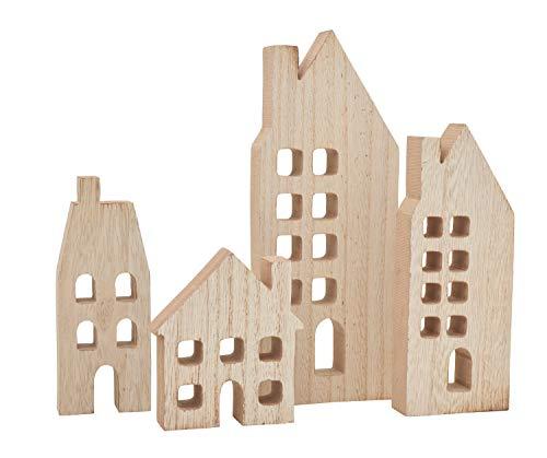 VBS Häuser-Silhouetten mit Fenster, 4er Set