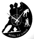 Instant Karma Clocks Orologio in Vinile da Parete Handmade Coppia Ballo Ballerini Danza Tango Walzer, Dance, Vintage