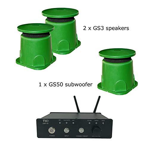 TIC Outdoor WiFi/Bluetooth Amplifier & Speaker Bundle (AMP50 & 2 GS3 & GS50)
