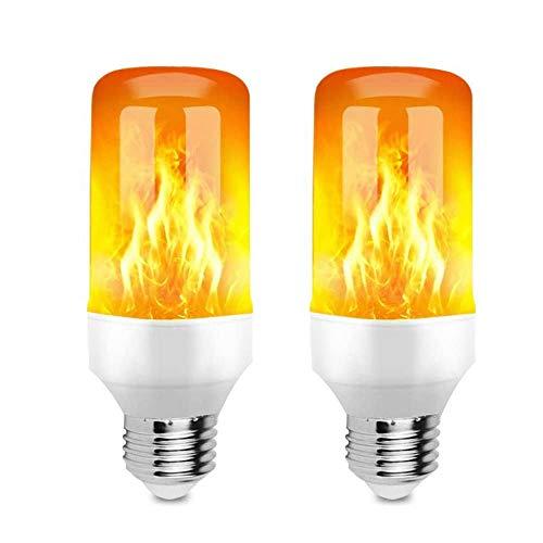 ADLOASHLOU E27 Bombillas de Llama con Efecto de Llama, 5W 99LED Bombillas de Efecto de Llama con 3 Modos de Iluminación, Bombilla de Luz LED para Decoraciones Halloween, Navidad 2 Pieces