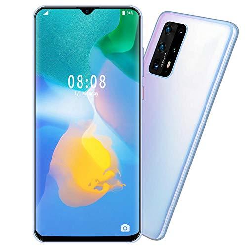 Teléfono Inteligente con 128G Tarjeta de Memoria,6 + 64G 6.7 Pulgados Gran Pantalla Teléfono Móvil de Face ID Desbloqueo de Huella Digital,4800Mah Android Teléfono Inteligente de Dual Cámara(EU)