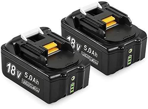 [2 Stück] Toogen BL1850B 18V 5.0Ah Lithium-Ionen Ersatz für Makita Akku BL1840 BL1840B BL1850 BL1860B LXT400 194204-5 Werkzeugakkus mit LED-Anzeigen
