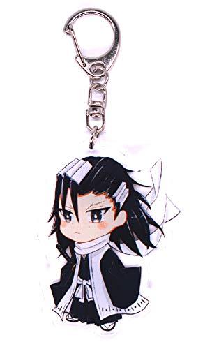 Unbekannt Bleach Schlüsselanhänger mit Chibi Figur (Kuchiki Byakuya)