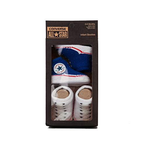 Converse Baby 2 Pairs Booties in Blue & White