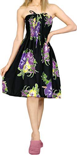 LA LEELA Women's Halter Neck Basic Slim Elastic Top Short Tshirt Dresses L-XL Violet_G237