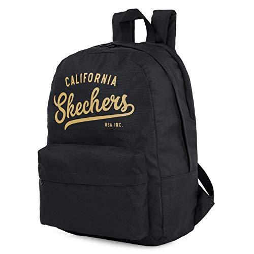 SKECHERS - Rucksack. Lässige Tasche. Unisex. Innentasche für Ipad/Tablett. Ideal für den täglichen Gebrauch. Praktisch, komfortabel und vielseitig S904, Color Schwarz