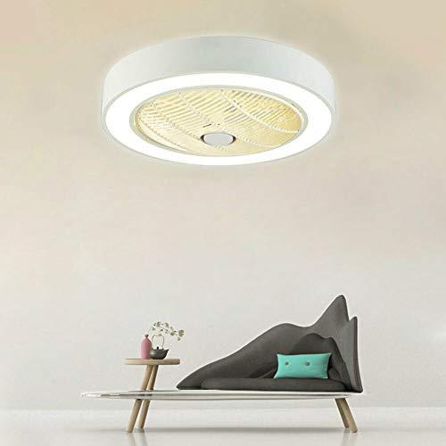 Deckenventilator mit Beleuchtung Fan Deckenleuchte Deckenventilator mit 36W LED Lampe Esszimmer Schlafzimmer Deckenlampe (Weiß)