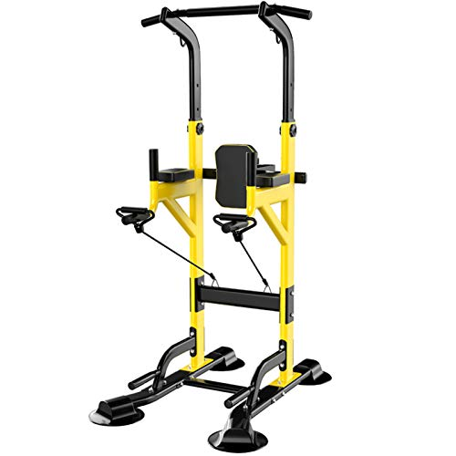 NENGGE Power Tower Dip Station 11 Levels Adjustable Height Multi-Function Pull Up Bar Dips Stand Ab Exercise Rack Home Gym Fitness Equipment for Family Workout Indoor & Outdoor, Max 450kg