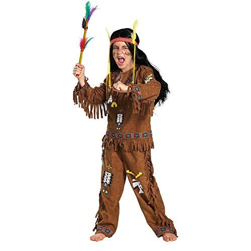 Satief Deluxe Kinder Indianerkostüm / Karneval & Fasching Jungen Indianer Party Verkleidung (110/116)