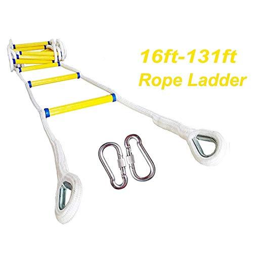 Echelle de sécurité antidérapante en corde de polyester pour évacuer les urgences, évasion haute, travail aérien (taille : 30 m), 10 m