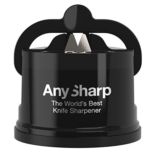 AnySharp Affilacoltelli con Ventosa, Nero
