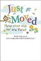 【私製10枚入り】引越はがきポストカード(Just Moved)72651AM