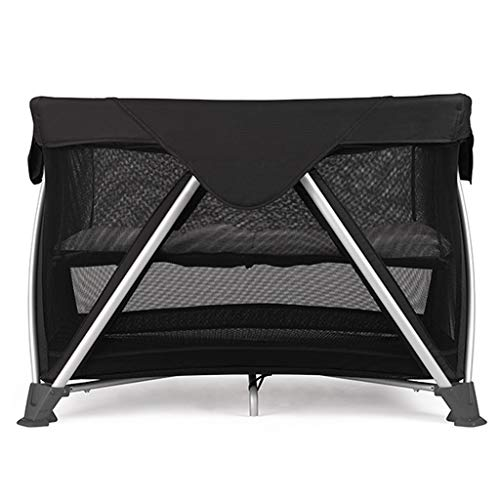 Fantastic Prices! Bed Side Crib for Baby Sleeper Bassinet Includes Travel Case and Urine Pad Bedside Bassinets Mobile Nappy Station Bed (Color : Black)