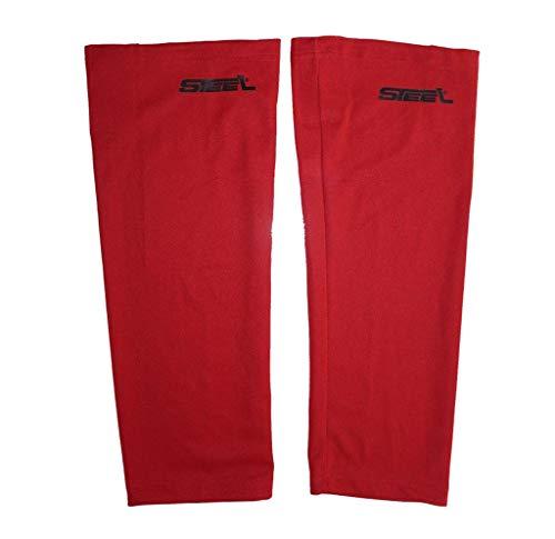 Eishockey Stutzen STEEL aus Textil-Netzgewebe Mesh Farbe rot, Größe Senior