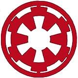 Galactic Empire Logo Star Wars Vinyl Decal Sticker |RED| 4 X 4 inch SSND1108