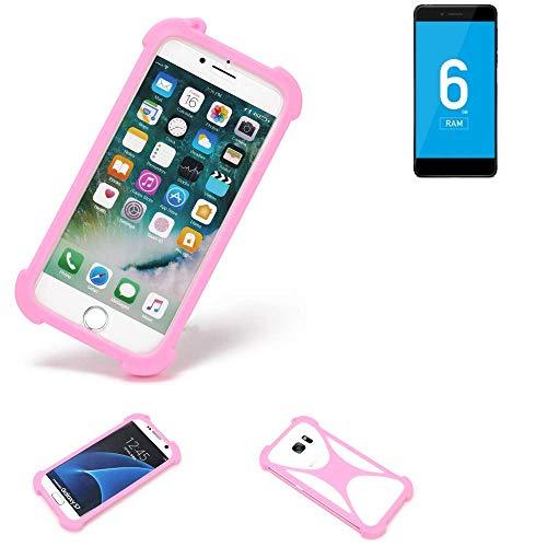 K-S-Trade® Handyhülle Für Vernee Mars Pro 4G Schutzhülle Bumper Silikon Schutz Hülle Cover Case Silikoncase Silikonbumper TPU Softcase Smartphone, Pink (1x)