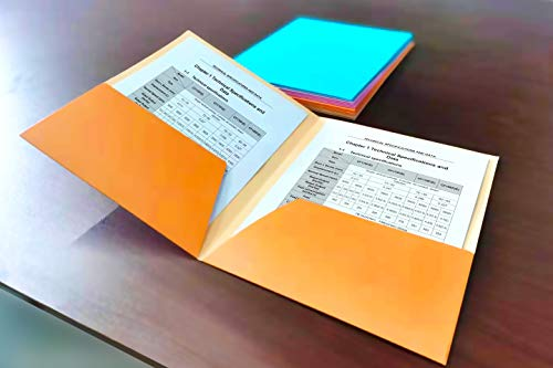 HUAPRINT 2 Pocket Folders,Pocket Folders Letter Size Bulk-(24 Pack Assorted Colors),Pocket File Folders Include Labels,Laminated Heavy Duty Paper Two Pocket Folders for Office Home School Photo #6