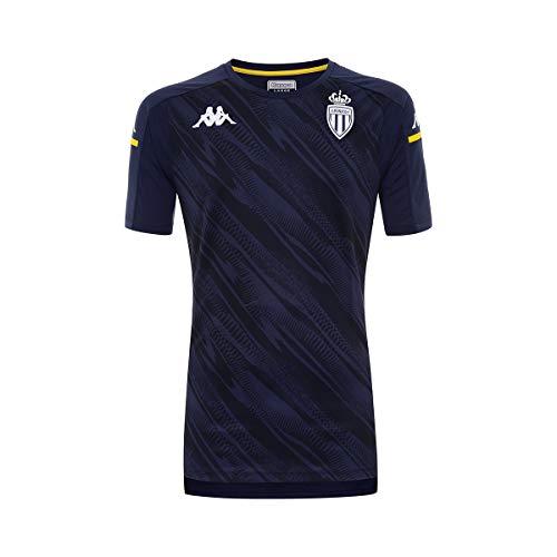 Kappa ABOUPRES PRO 4 AS Mónaco Camiseta Hombre Azul/Amarillo
