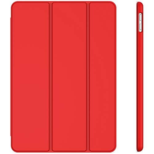 JETech Hülle für iPad 8/7 (10,2 Zoll, Modell 2020/2019, 8./7. Generation), Auto Schlafen/Wachen, Rot