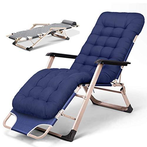 Unknow Fauteuils inclinables Sun Loungers - Fauteuil inclinable Pliant pour l'extérieur, Chaise Zero Gravity avec Coussins épais - Fabriqués à partir d'un Cadre en Acier pour la Piscine d