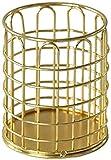 Lápiz de Metal de bolígrafo y Titular de la Pluma Organizador de Escritorio y Caja de Almacenamiento Redondos para Oficina, Escuela, hogar 3.9x3.1 en Pluma JDTBYMXX (Color : Gold, Size : U Shape)
