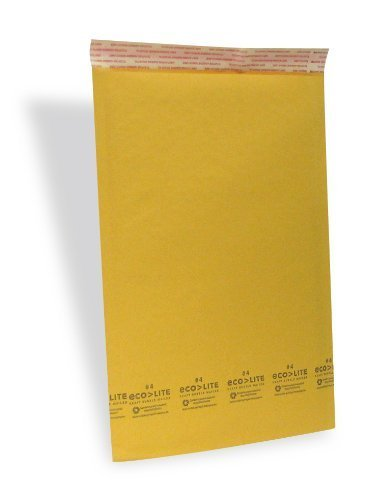 Ecolite #4 Size Kraft Bubble Mailers Self Seal/100 Cs