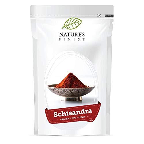 Nature's Finest Bio-Schizandra-Pulver 250 g | Rohes Bio-Supernahrungsmittel | Vegan und vegetarisch