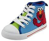 Sesame Street Elmo Hi Top Sneaker Shoe, Blue Green, Toddler Size 7