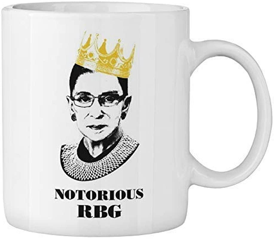 Notorious RBG Mug Ruth Bader Ginsberg Giclee Coffee Tea Mug Cup Gift For Law Students Lawyers Judges Funny Progressive Feminism Protest Women Power Feminist Gift Mug 11oz White Ceramic Mug