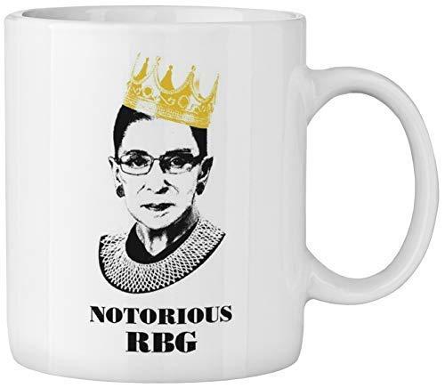 Notorious RBG Mug - Ruth Bader Ginsberg Giclee Coffee tea Mug Cup Gift for Law Students, Lawyers, Judges.Funny Progressive Feminism Protest Women Power feminist gift mug (11oz white ceramic mug)